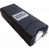 POLICE 28,000,000 Micro Stun Gun - Rechargeable With LED Flashlight (Black)