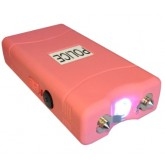 POLICE 25,000,000 Mini Stun Gun - Rechargeable With LED Flashlight, PINK