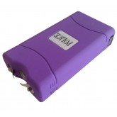 POLICE 25,000,000 Mini Stun Gun - Rechargeable With LED Flashlight, PURPLE