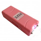 POLICE 28,000,000 Micro Stun Gun - Rechargeable with LED Flashlight (PINK)