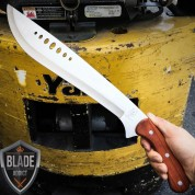 "21"" SURVIVAL HUNTING Tactical Full Tang FIXED BLADE KNIFE Machete Kukri Sword"