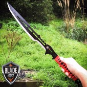 "28"" ZOMBIE NINJA FULL TANG SWORD MACHETE TACTICAL COMBAT WARRIOR SAMURAI KNIFE"