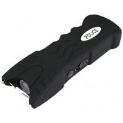 POLICE 916 - EXTREME VOLTAGE - Heavy Duty Stun Gun With Safety Disable Pin & LED Flashlight - Rechargeable, BLACK
