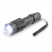 POLICE A2 - Extreme Power Heavy Duty Stun Gun Aluminum Series - Rechargeable With LED Tactical Flashlight