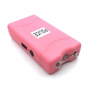POLICE 100,000,000 Mini Stun Gun - Rechargeable With LED Flashlight, PINK