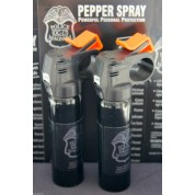 2 MEAN POLICE MAGNUM MACE PEPPER SPRAY 4oz FIREMASTER FOG TOP HOME DEFENSE