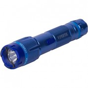 VIPERTEK VTS-T03 - 230,000,000 Heavy Duty Stun Gun - Rechargeable with LED Tactical Flashlight, Blue