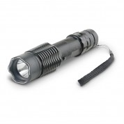 POLICE A2 - 230,000,000 Metal Heavy Duty Stun Gun - Rechargeable With LED Tactical Flashlight, Black