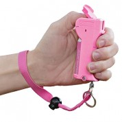 SABRE RED Stop Strap Pepper Spray - Deactivation Technology with Key Case PINK