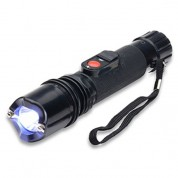 POLICE 305 - 999,000,000 Stun Gun With Tactical LED Flashlight & Safety Cap Rechargeable
