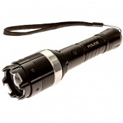 Police 8810- 250,000,000 Heavy Duty Stun Gun - Rechargeable With Adjustable Zoom Super Bright LED Flashlight