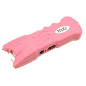 POLICE 230,000,000 Stun Gun Rechargeable With Safety Disable Pin & Led Flashlight (PINK)