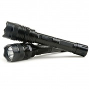 POLICE 1100 - 999,000,000 Metal Heavy Duty Stun Gun With Super Bright LED Flashlight Rechargeable