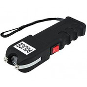 POLICE 928 - EXTREME VOLTAGE - Heavy Duty Stun Gun Rechargeable With LED Flashlight and Anti-Snatch Feature