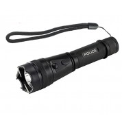 POLICE 230,000,000 Compact Metal Flashlight Stun Gun Rechargeable