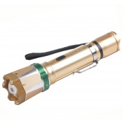POLICE 230,000,000 Zoomable Super Led Flashlight Stun Gun Rechargeable GOLDEN