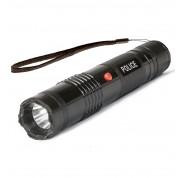 POLICE M12 BLACK - EXTREME VOLTAGE - Metal Mini Stun Gun With LED Flashlight - Rechargeable