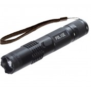 POLICE M12 BLACK - 999,000,000 Metal Mini Stun Gun With LED Flashlight - Rechargeable
