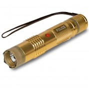 POLICE M12 GOLD - 999,000,000 Metal Mini Stun Gun With LED Flashlight - Rechargeable