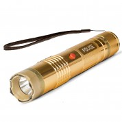 POLICE M12 GOLDEN - EXTREME VOLTAGE - Metal Mini Stun Gun With LED Flashlight - Rechargeable