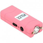 POLICE 100,000,000 Micro Stun Gun - Rechargeable with LED Flashlight (PINK)