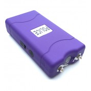 POLICE 100,000,000 Mini Stun Gun - Rechargeable With LED Flashlight, PURPLE