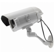 9 INCH HEAVY DUTY DUMMY CAMERA IN OUTDOOR HOUSING WITH LIGHT