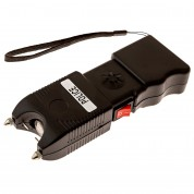 POLICE TW_10 - EXTREME VOLTAGE - Heavy Duty Stun Gun Rechargeable With LED Flashlight and Ear-Piercing Police Siren Alarm