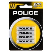 POLICE AAA Alkaline Batteries (4-Pack)