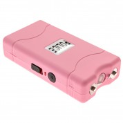 POLICE 800 - EXTREME VOLTAGE - Mini Stun Gun With LED Flashlight Rechargeable Pink - Lot of 25 pcs
