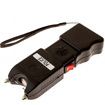 POLICE TW_10 - EXTREME VOLTAGE - Heavy Duty Stun Gun Rechargeable With LED Flashlight and Ear-Piercing Police Siren Alarm - Lot of 25 pcs