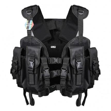 Pellor US Navy Seal Modular Load Swat Adjustable Shoulder and Waist Assault Tactical Vest with 3L Water Bag