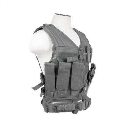 Heavy Duty Airsoft Tactical Vest With Holster