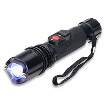 POLICE 305 - EXTREME VOLTAGE - Stun Gun With Tactical LED Flashlight and Safety Cap Rechargeable