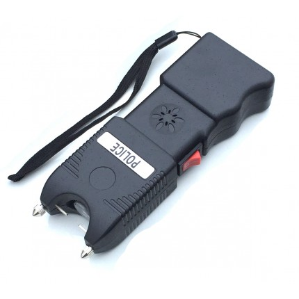 POLICE 230,000,000 Heavy Duty Stun Gun With Flashlight And Police Siren Rechargeable- Wholesale Lot 50 pcs