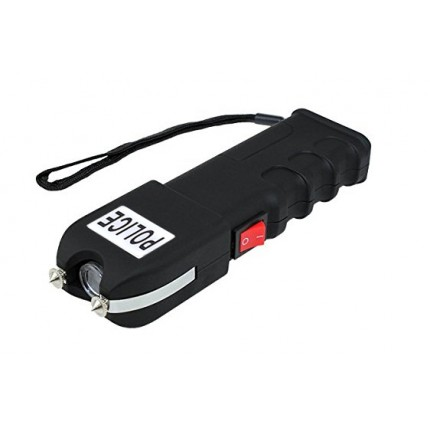 POLICE 230,000,000 Grab Guard Heavy Duty Stun Gun With LED Flashlight Rechargeable