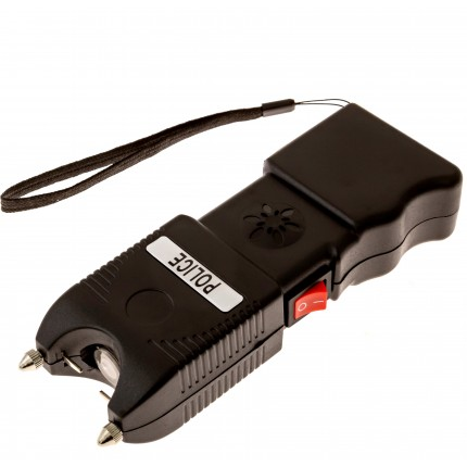 POLICE TW_10 - 230,000,000 Super Heavy Duty Stun Gun - Rechargeable With LED Flashlight And Loud Police Siren Alarm