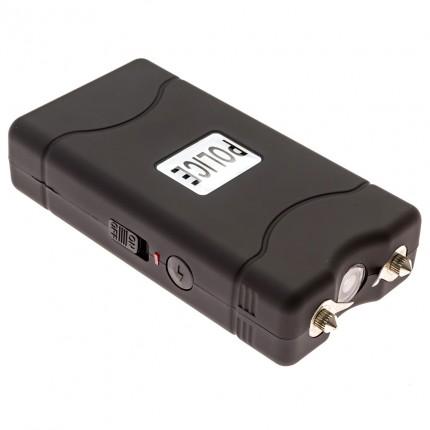POLICE 800 - EXTREME VOLTAGE - Mini Stun Gun Rechargeable with LED Flashlight, Black